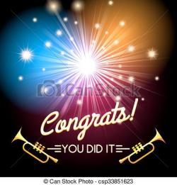 Sparklers clipart congratulation
