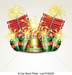 Sparklers clipart diwali cracker