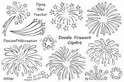 Fireworks clipart doodle