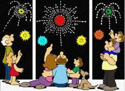 Fireworks clipart family