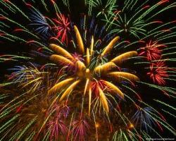 Fireworks clipart festive