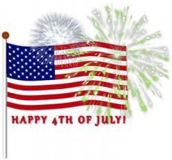 Fireworks clipart flag