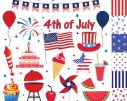 Confetti clipart independence day