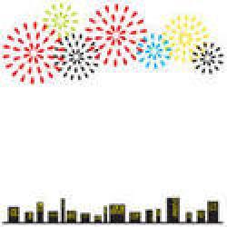 Fireworks clipart frame