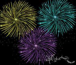 Fireworks clipart glitter