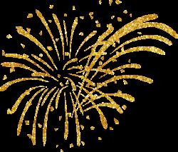 Fireworks clipart golden