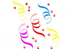 Confetti clipart new years eve