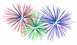 Fireworks clipart january