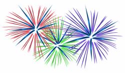 Fireworks clipart january