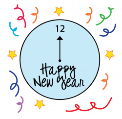 New Year clipart clock
