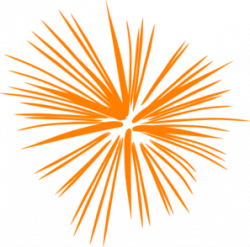 Fireworks clipart orange
