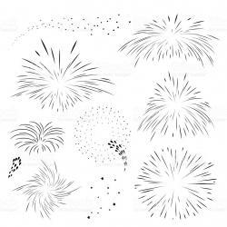 Fireworks clipart outline