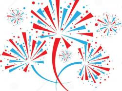 Fireworks clipart red background