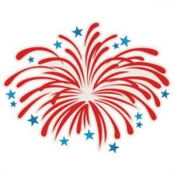 Fireworks clipart silhouette