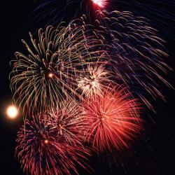 Fireworks clipart street festival