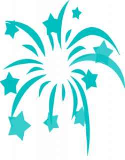 Fireworks clipart teal