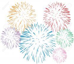 Fireworks clipart white background