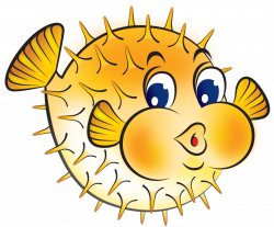 Blowfish clipart fish face