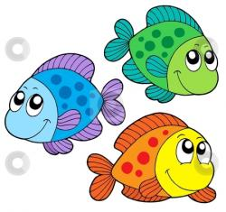 Colouful clipart cute fish