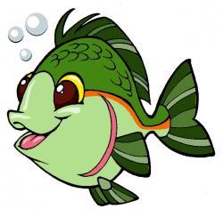Pufferfish clipart green fish