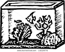Fishtank clipart black and white