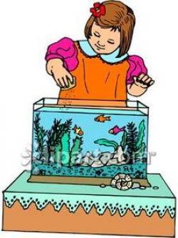 Fishtank clipart feed fish