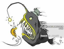 Anglerfish clipart cartoon