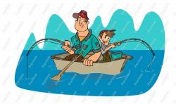 Fisherman clipart father and son