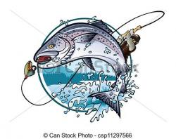 Fisherman clipart salmon fishing