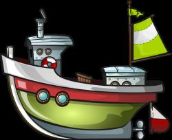 Tugboat clipart fishing boat