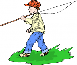 Fishing clipart teenager