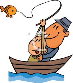 Fishing clipart family boating