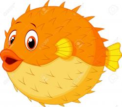 Pufferfish clipart cartoon