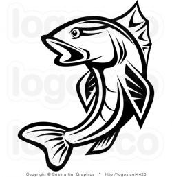 Trout clipart bass