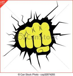 Fist clipart strong