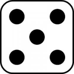 Dice clipart one