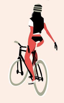 Drawn pushbike graphic