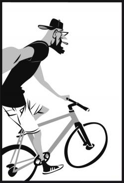 Fixie clipart hipster