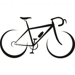 Drawn pushbike bicycle line