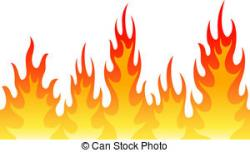 Flames clipart background