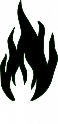 Flames clipart black and white
