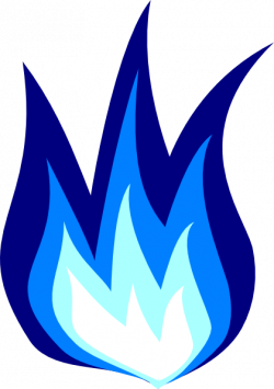 Flames clipart blue fire