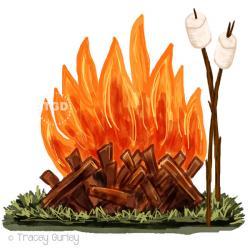 Marshmellow clipart bonfire