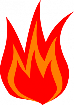 Heat clipart red flame