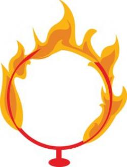 Flames clipart circus ring