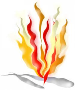Flames clipart olympic torch