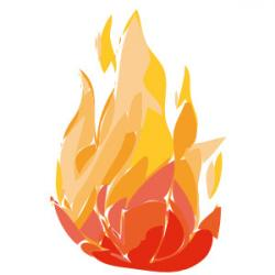 Flames clipart orange things