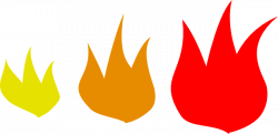 Flames clipart printable
