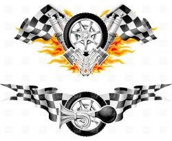 Flames clipart race engine