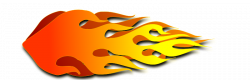 Flames clipart rocket